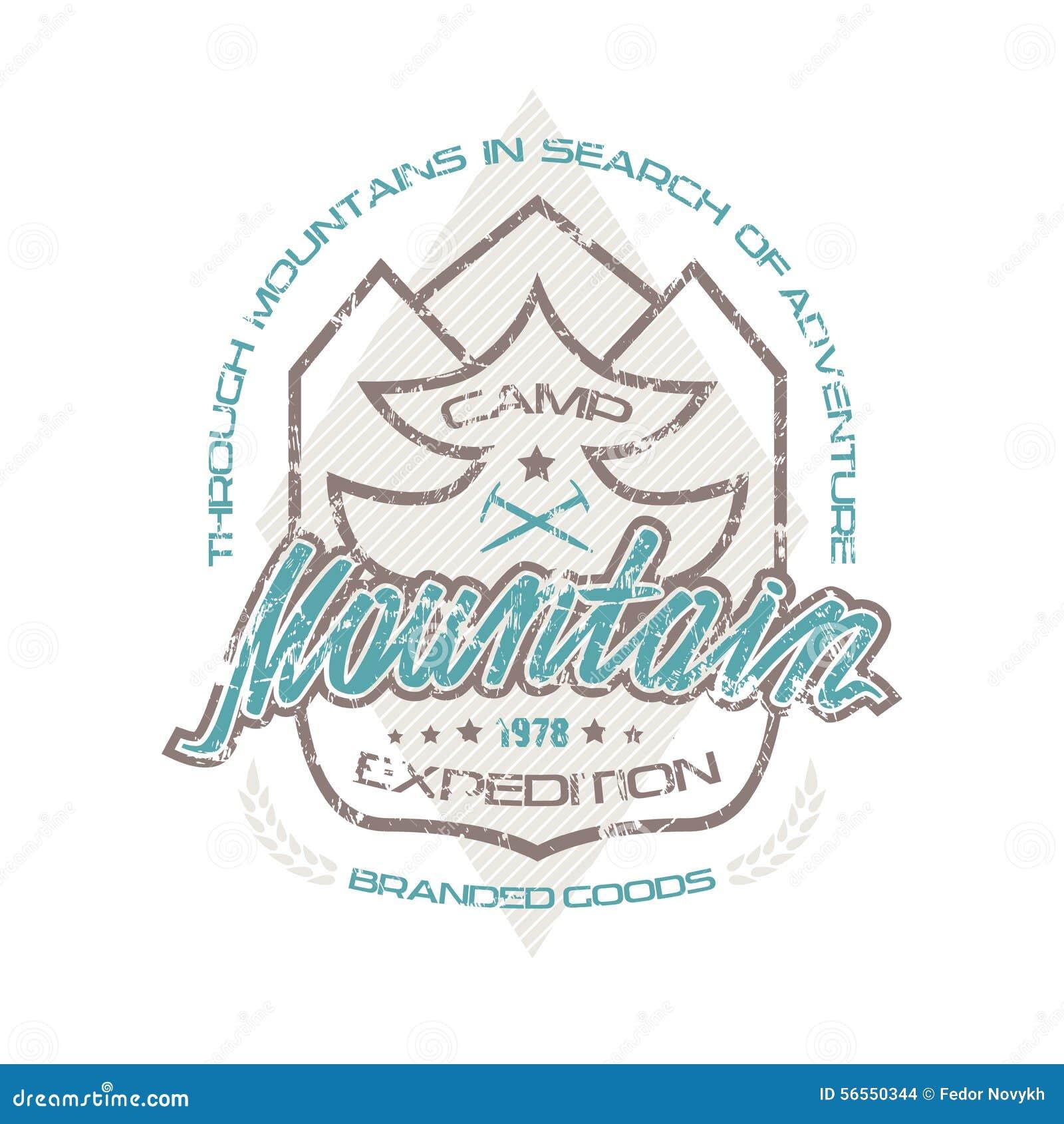 Download Εμβλήματα στρατόπεδων βουνών για την μπλούζα Διανυσματική απεικόνιση - εικονογραφία από φύση, σχέδιο: 56550344