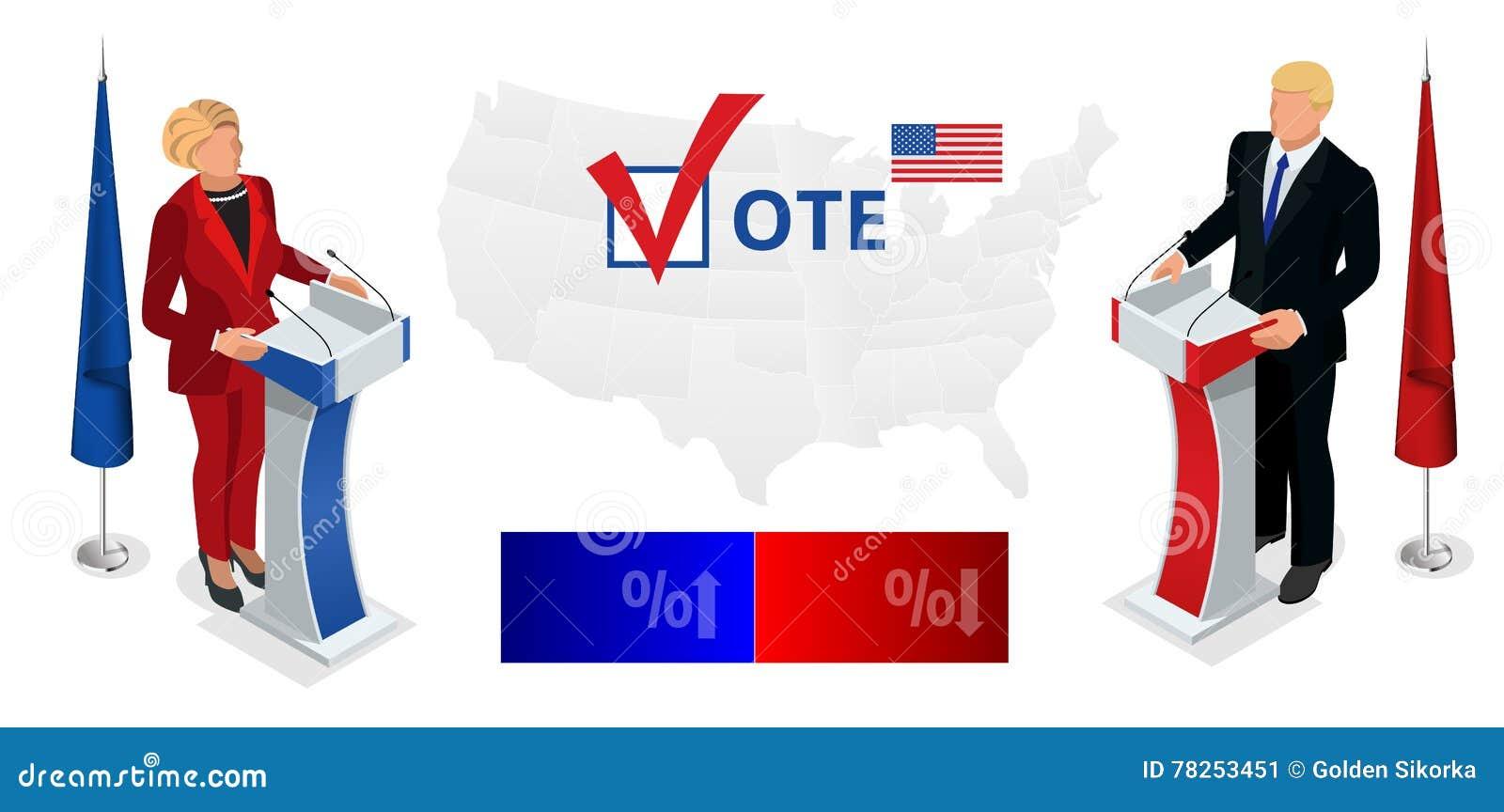 Εμείς εκλογής 2016 infographic αίθουσα συμβάσεων δημοκρατών δημοκρατική Προεδρική επικύρωση συζήτησης κόμματος
