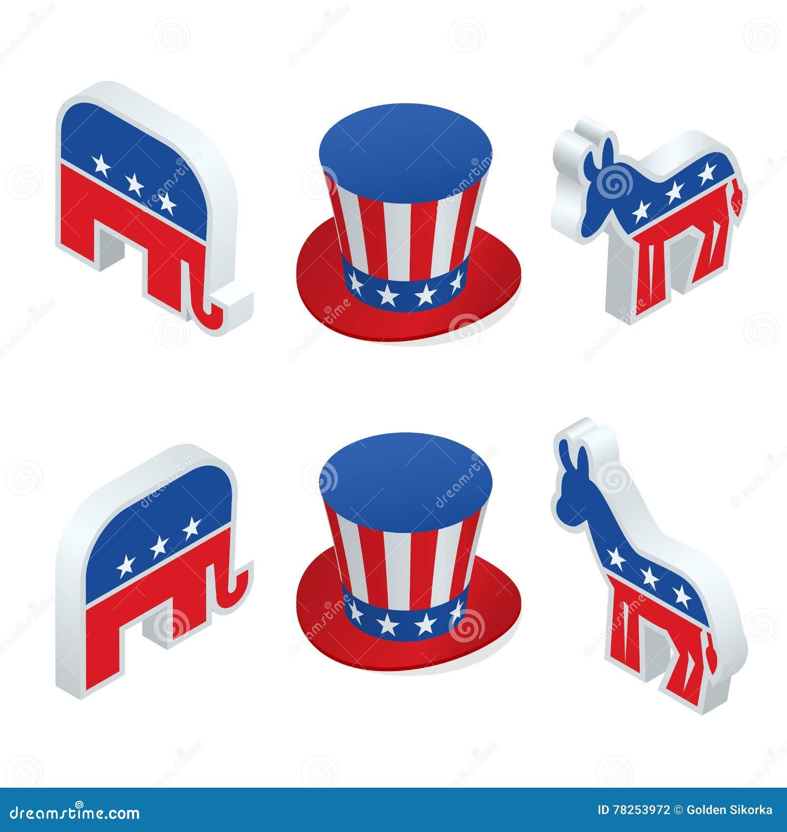 Εμείς εκλογή 2016 infographic Η ψηφιακή διανυσματική αμερικανική εκλογή με ποιο είναι επόμενο, δημοκρατικό ή κόμμα δημοκρατών, ασ