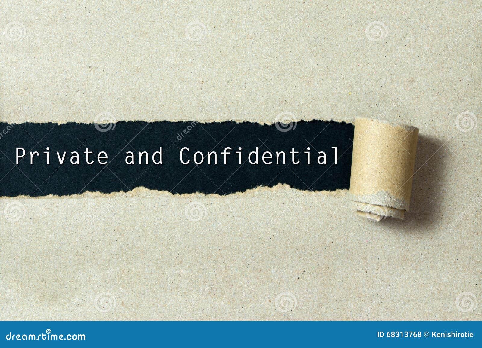 εμπιστευτικός ιδιωτικό&sig