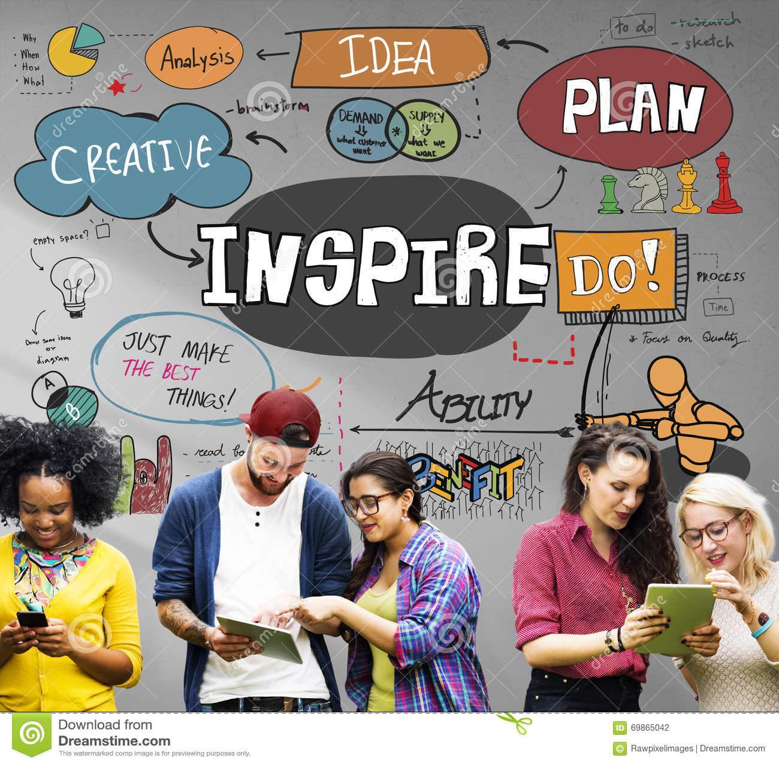 Εμπνεύστε την έμπνευση δημιουργική παρακινεί την έννοια φαντασίας