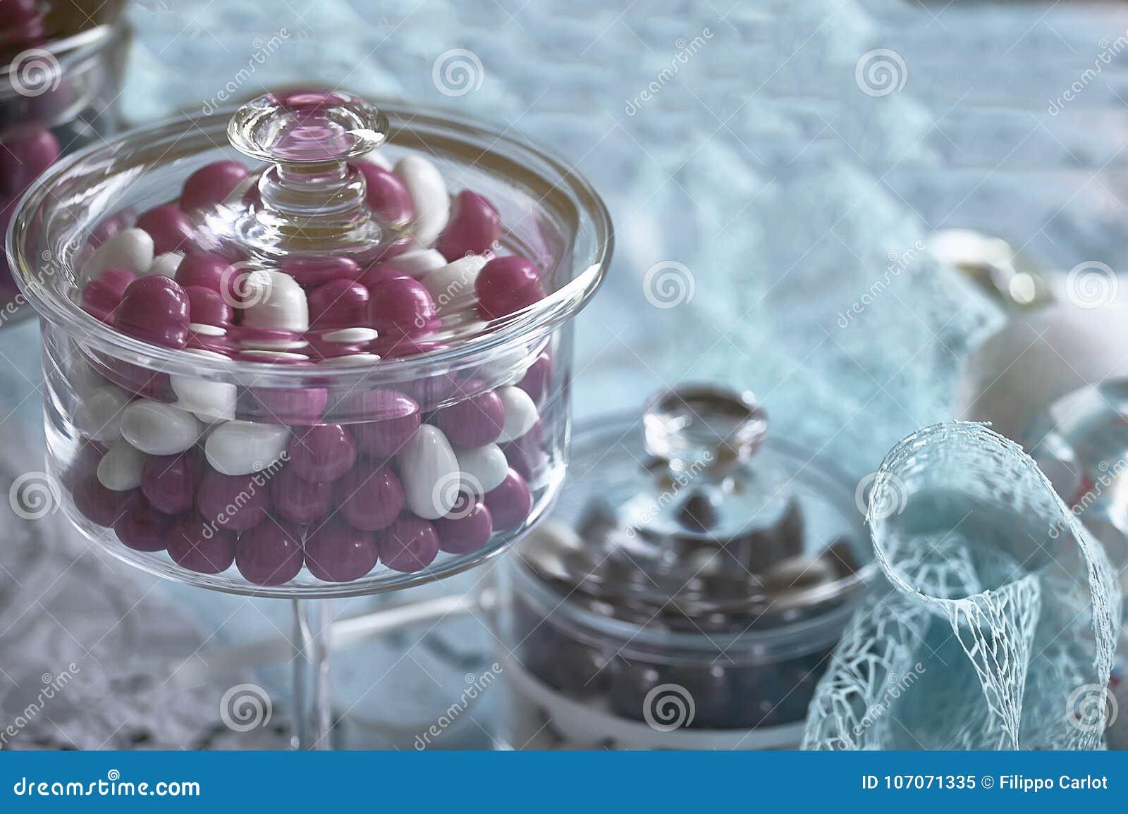Εμπορευματοκιβώτιο γυαλιού για τις χρωματισμένες καραμέλες