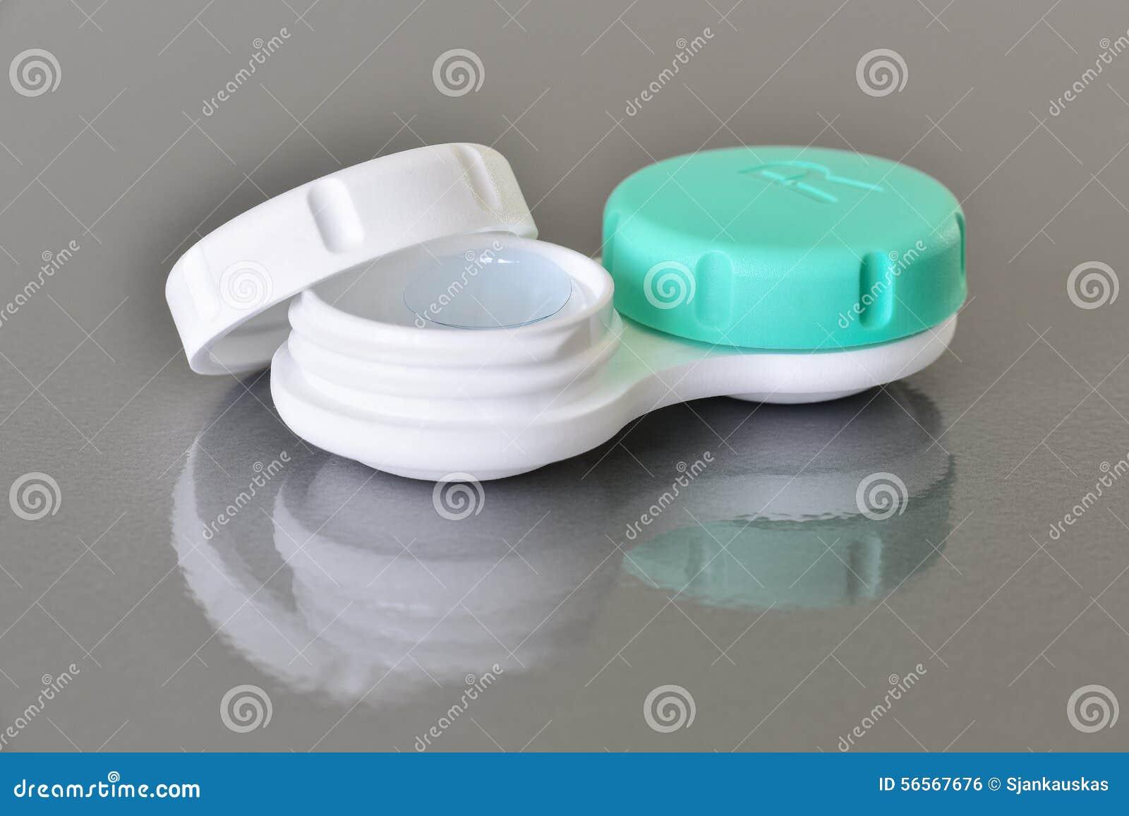 Download Εμπορευματοκιβώτιο φακών επαφής Στοκ Εικόνες - εικόνα από φακός, υγεία: 56567676