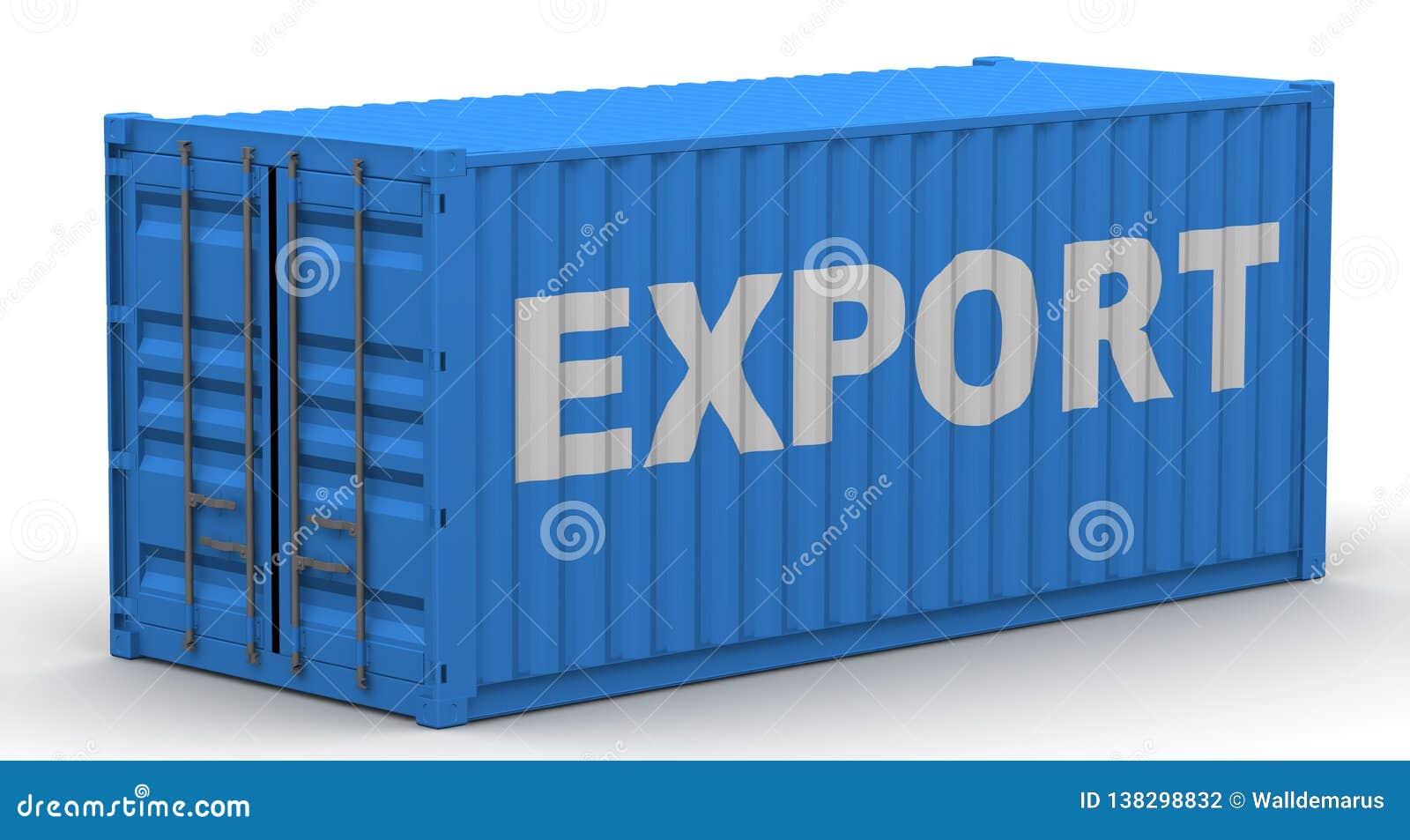 Εμπορευματοκιβώτιο φορτίου που ονομάζεται με την ΕΞΑΓΩΓΗ λέξης