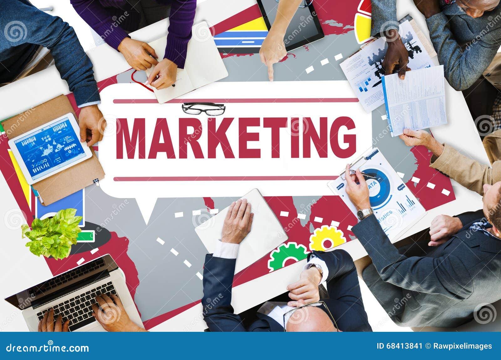 Εμπορική στρατηγική που μαρκάρει το εμπορικό σχέδιο Concep διαφημίσεων