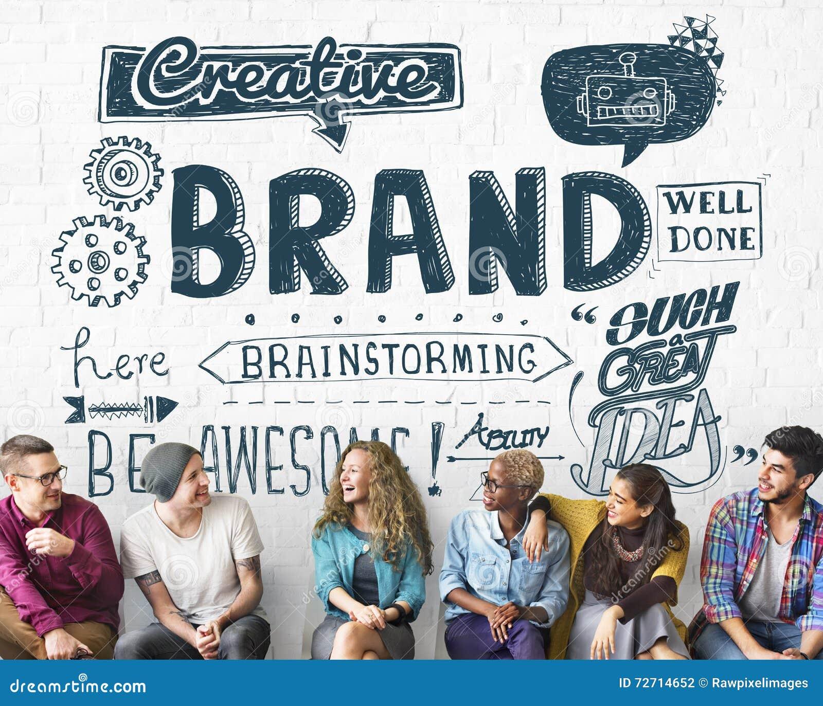 Εμπορικών σημάτων μαρκαρίσματος έννοια μάρκετινγκ διαφήμισης εμπορική