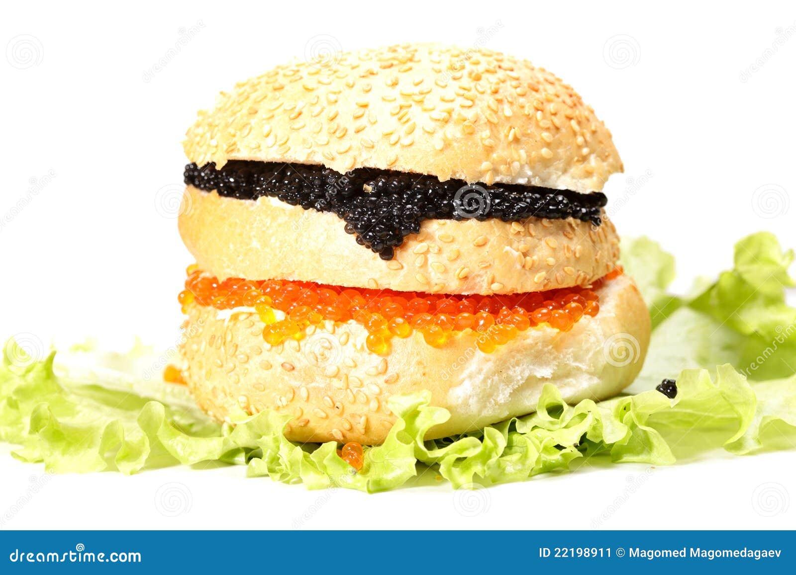 ενάντια burger στο λευκό χαβι&alph
