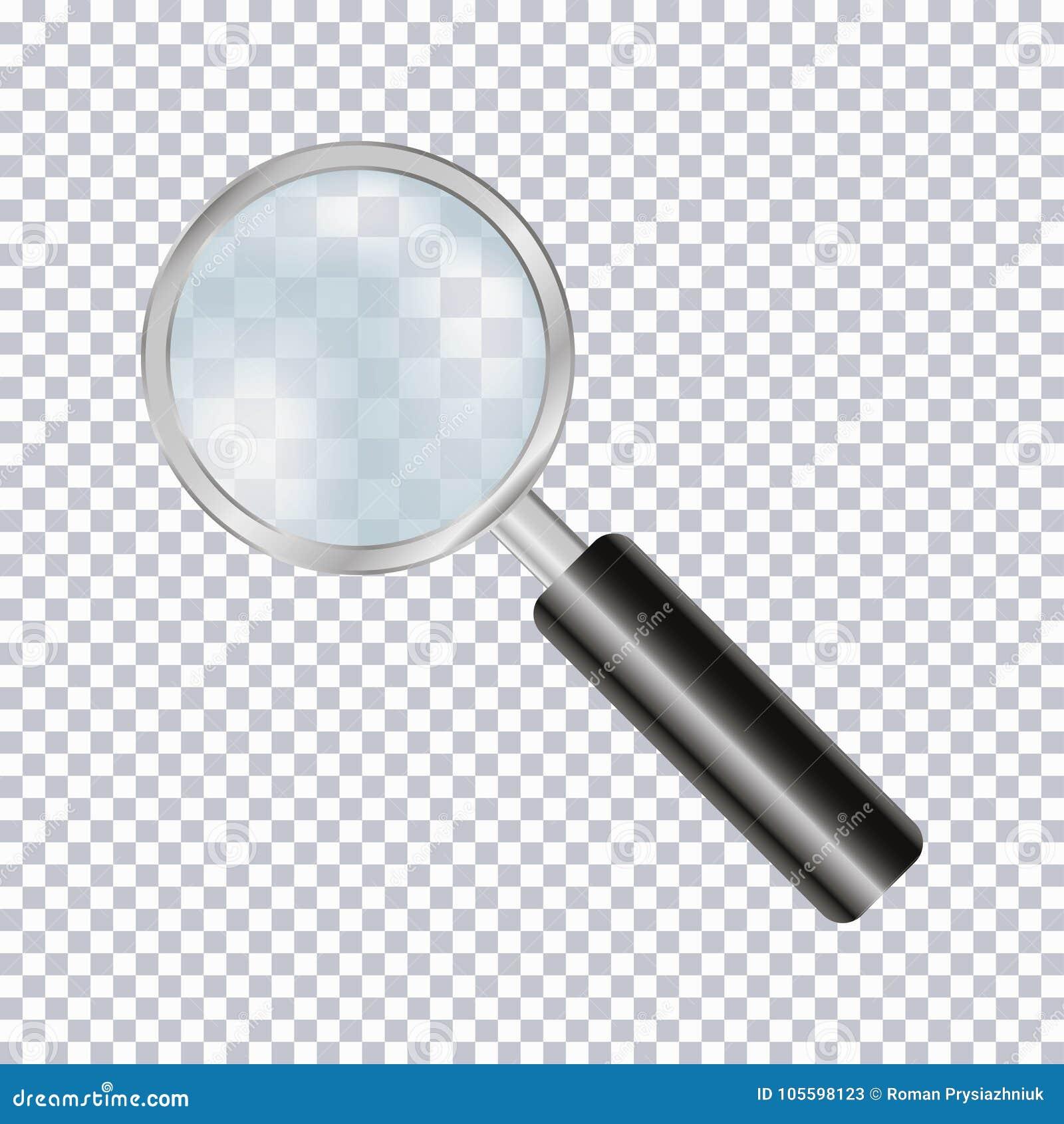 Ενίσχυση - γυαλί ρεαλιστικό που απομονώνει στο διαφανές υπόβαθρο διάνυσμα