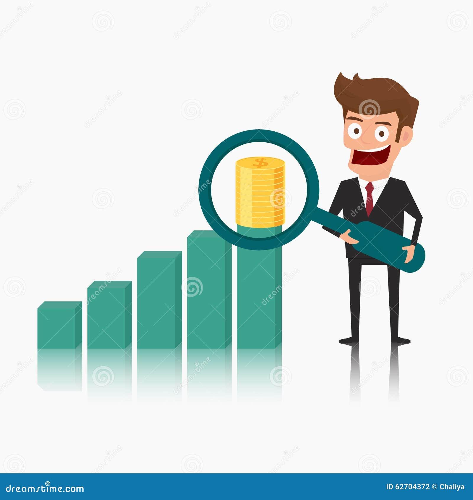 Ενίσχυση εκμετάλλευσης επιχειρηματιών - χρήματα εστίασης γυαλιού στην αύξηση των διαγραμμάτων