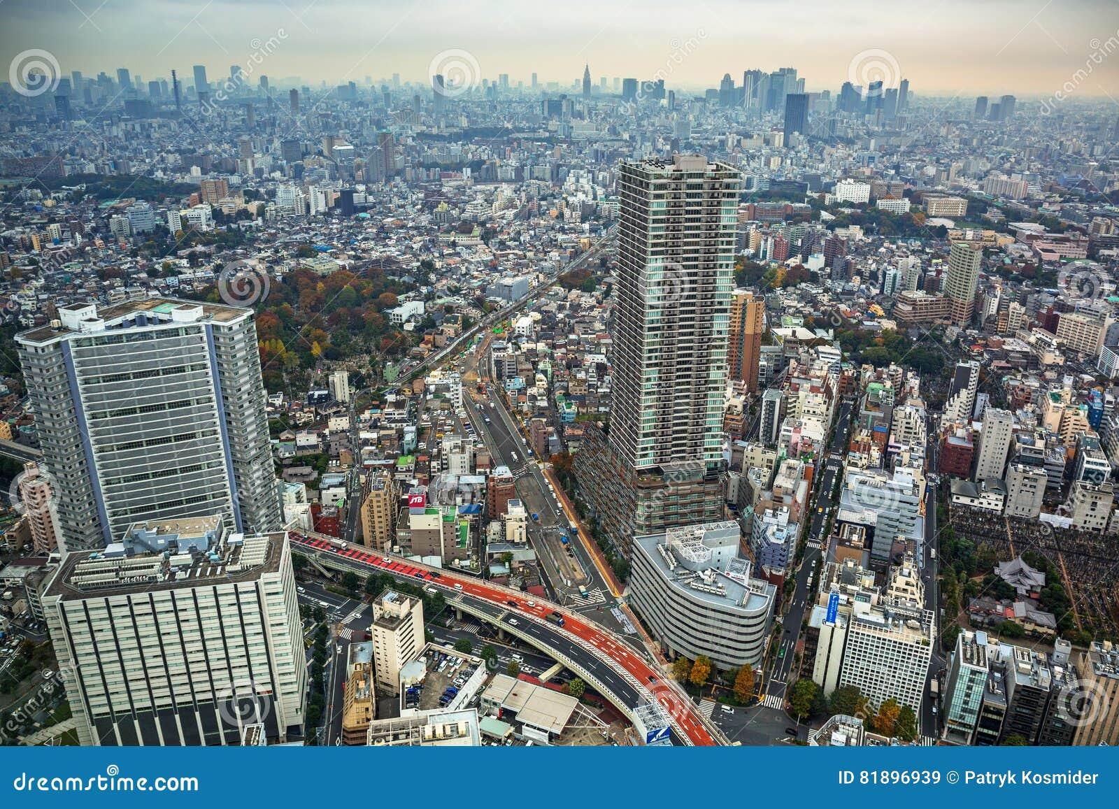 Εναέρια άποψη για τη μητρόπολη του Τόκιο, Ιαπωνία