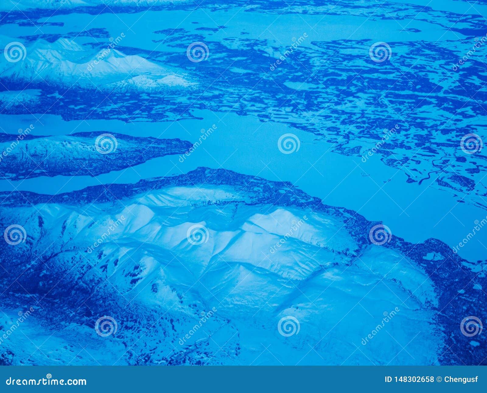 Εναέρια άποψη ενός εθνικού πάρκου της Αλάσκας