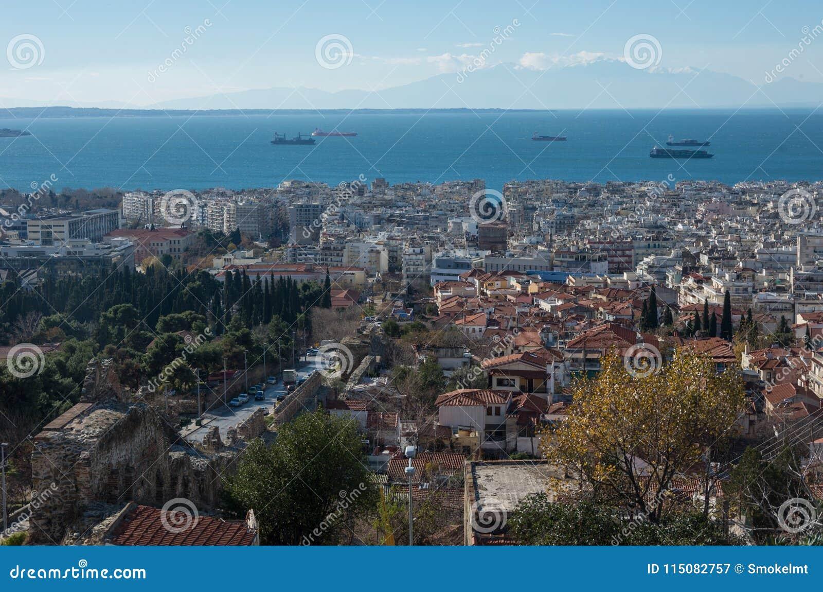 Εναέρια άποψη Θεσσαλονίκης, Ελλάδα Θεσσαλονίκη είναι η δεύτερη