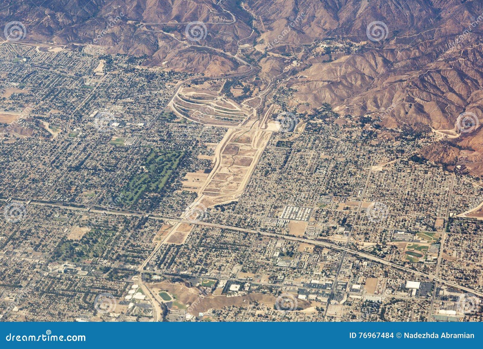 Εναέρια άποψη Λος Άντζελες στις Ηνωμένες Πολιτείες