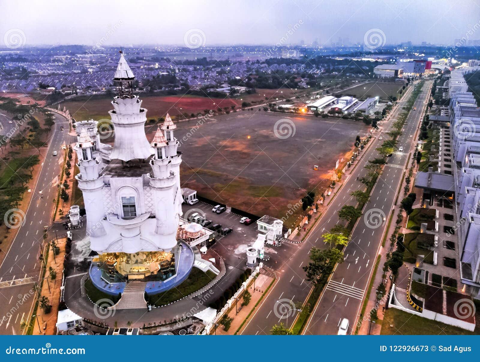 Εναέρια άποψη πόλεων BSD Tangerang, Ινδονησία Τον Ιούλιο του 2018
