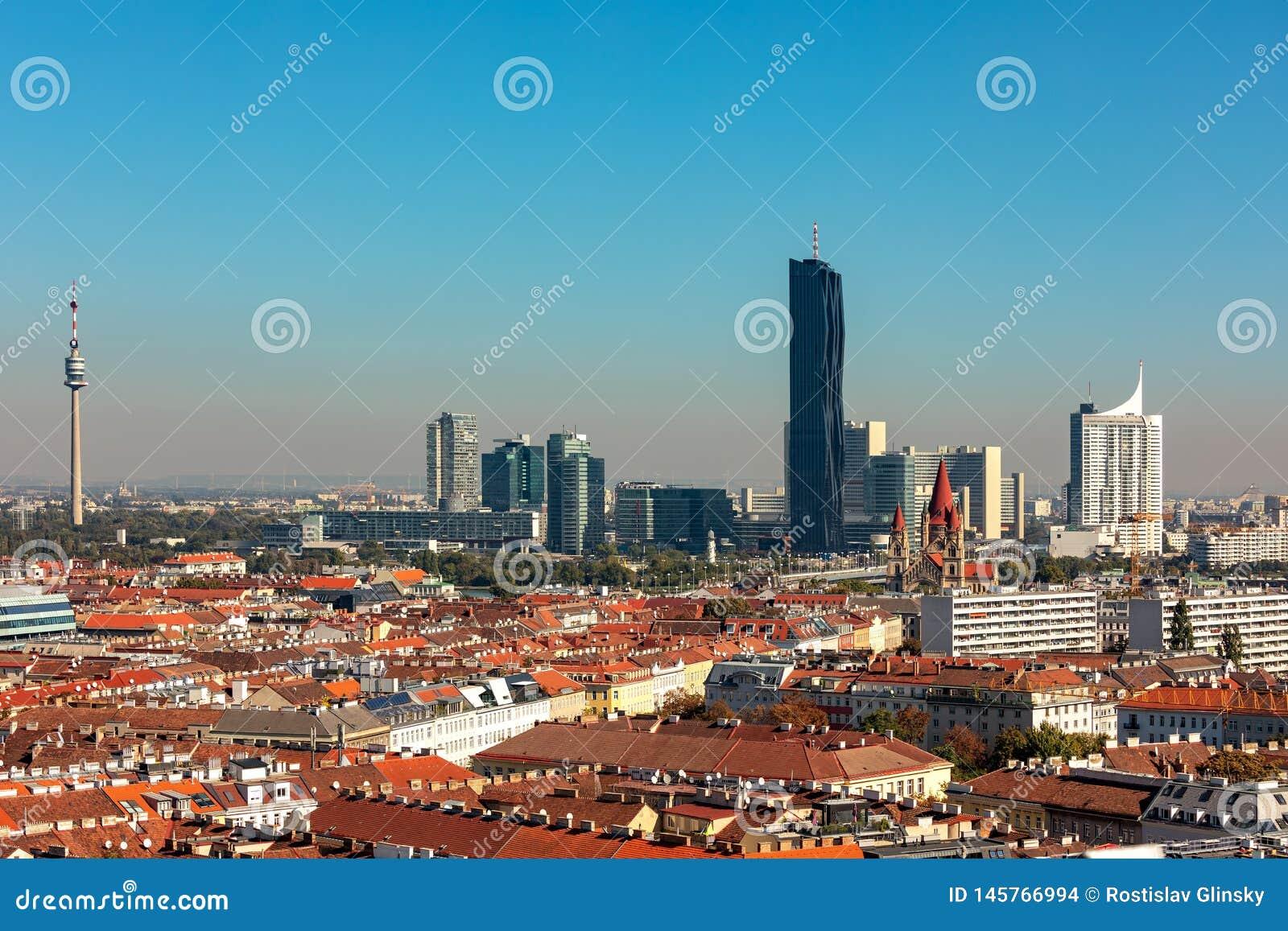Εναέρια άποψη της Βιέννης, Αυστρία
