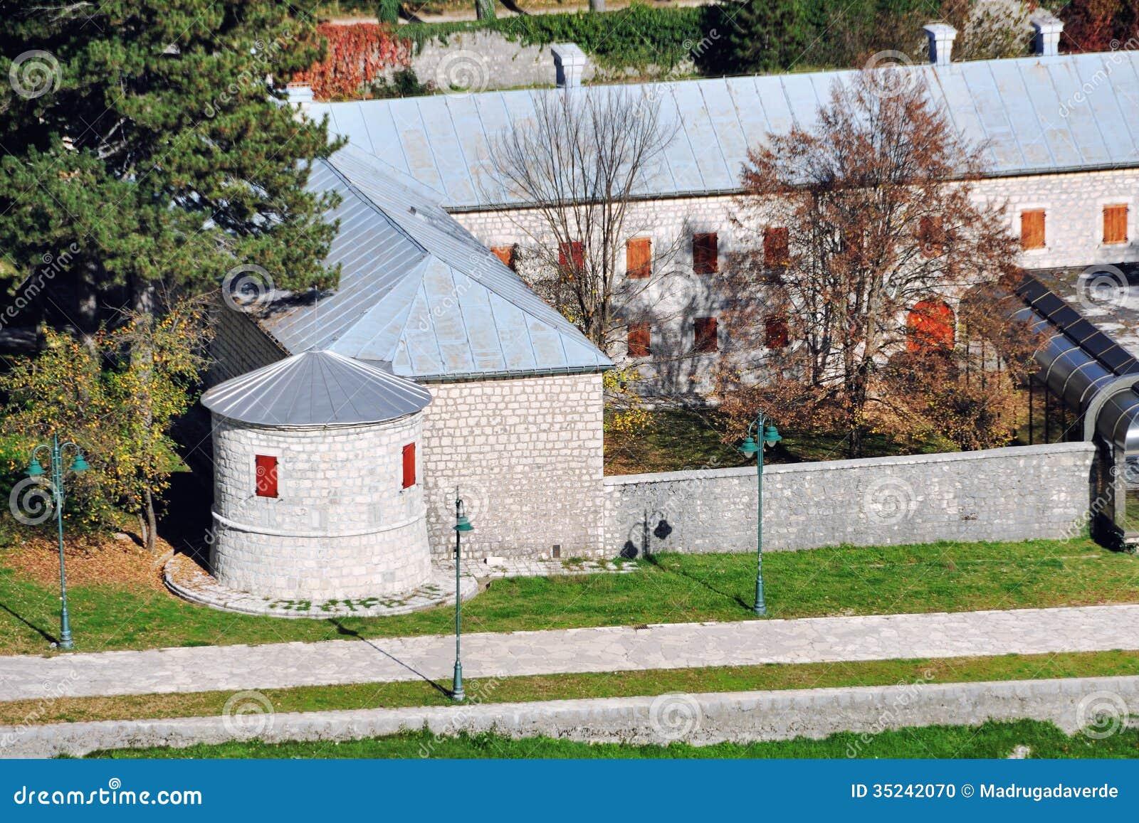 Εναέρια άποψη Cetinje, Μαυροβούνιο