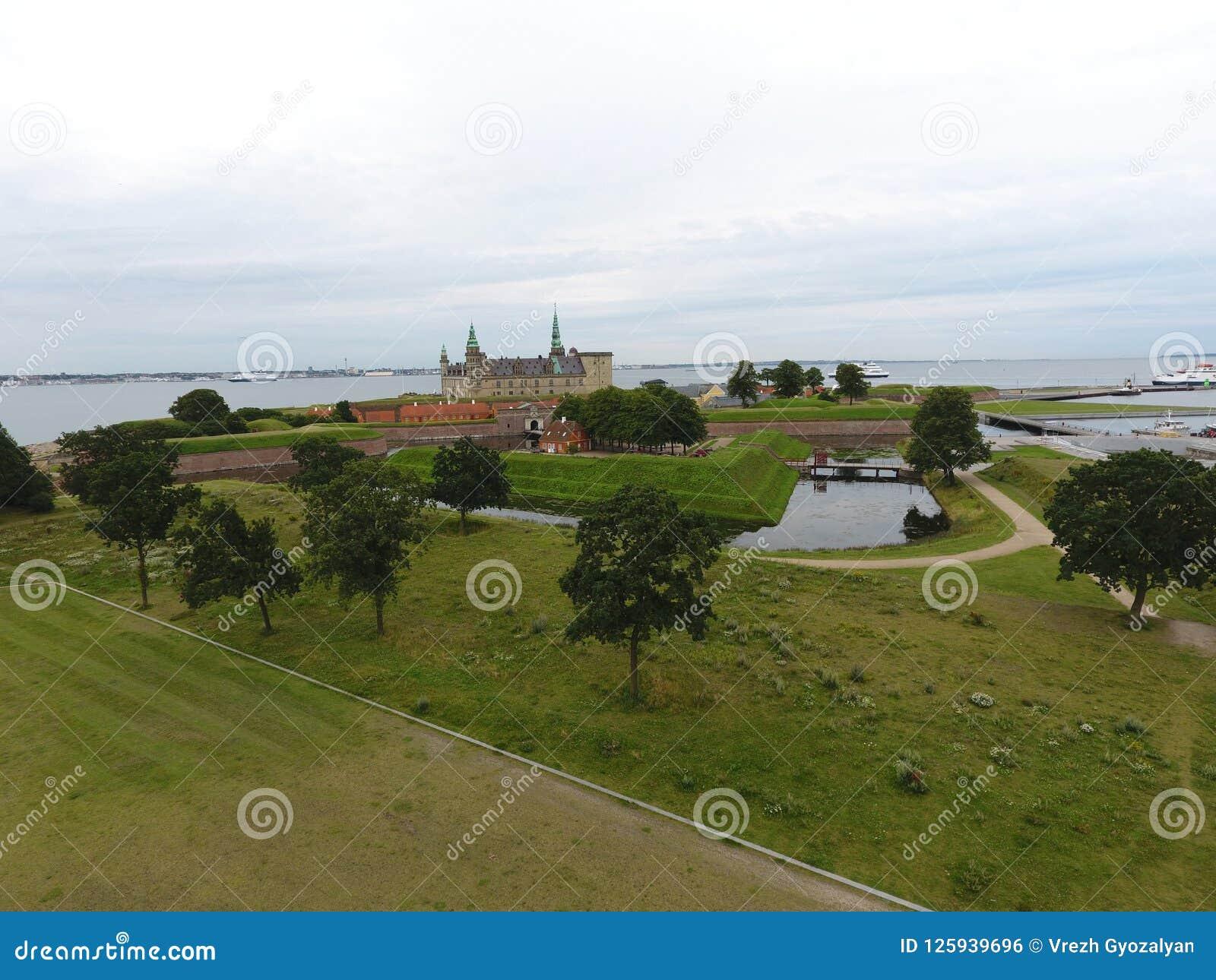 Εναέρια άποψη Kronborg Castle, Δανία