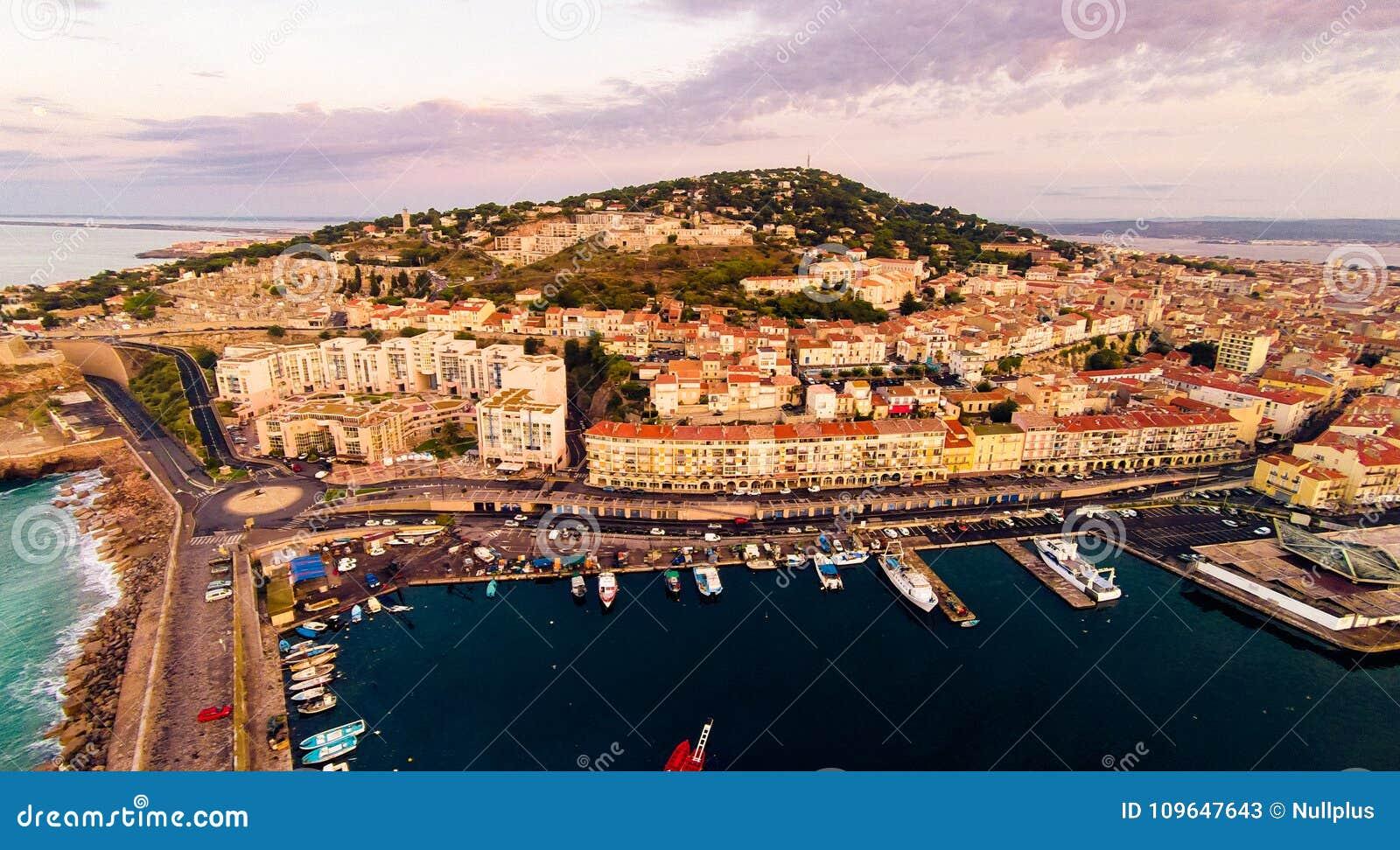Εναέρια άποψη Sete, Γαλλία