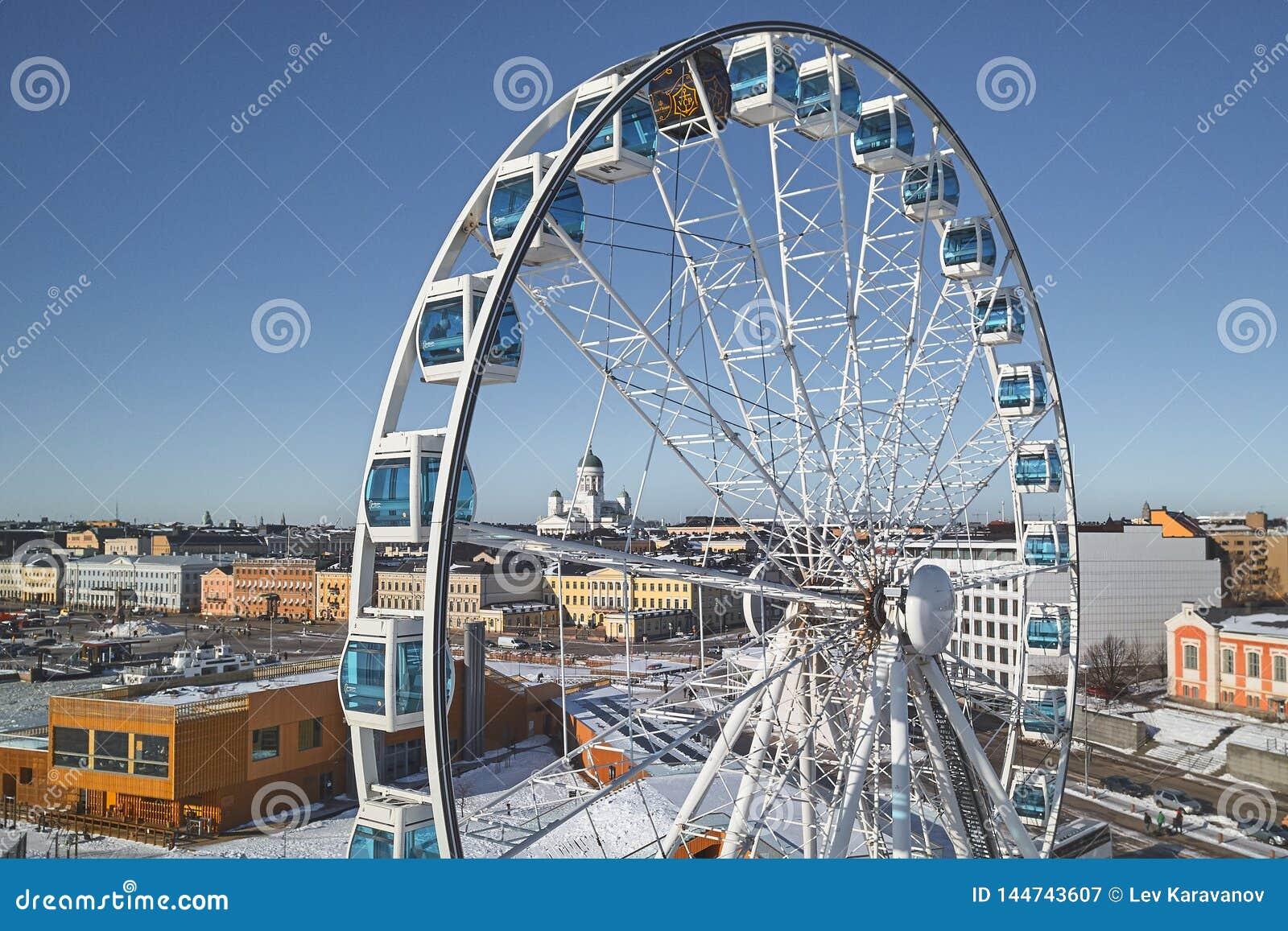 Εναέρια άποψη SkyWheel στο Ελσίνκι