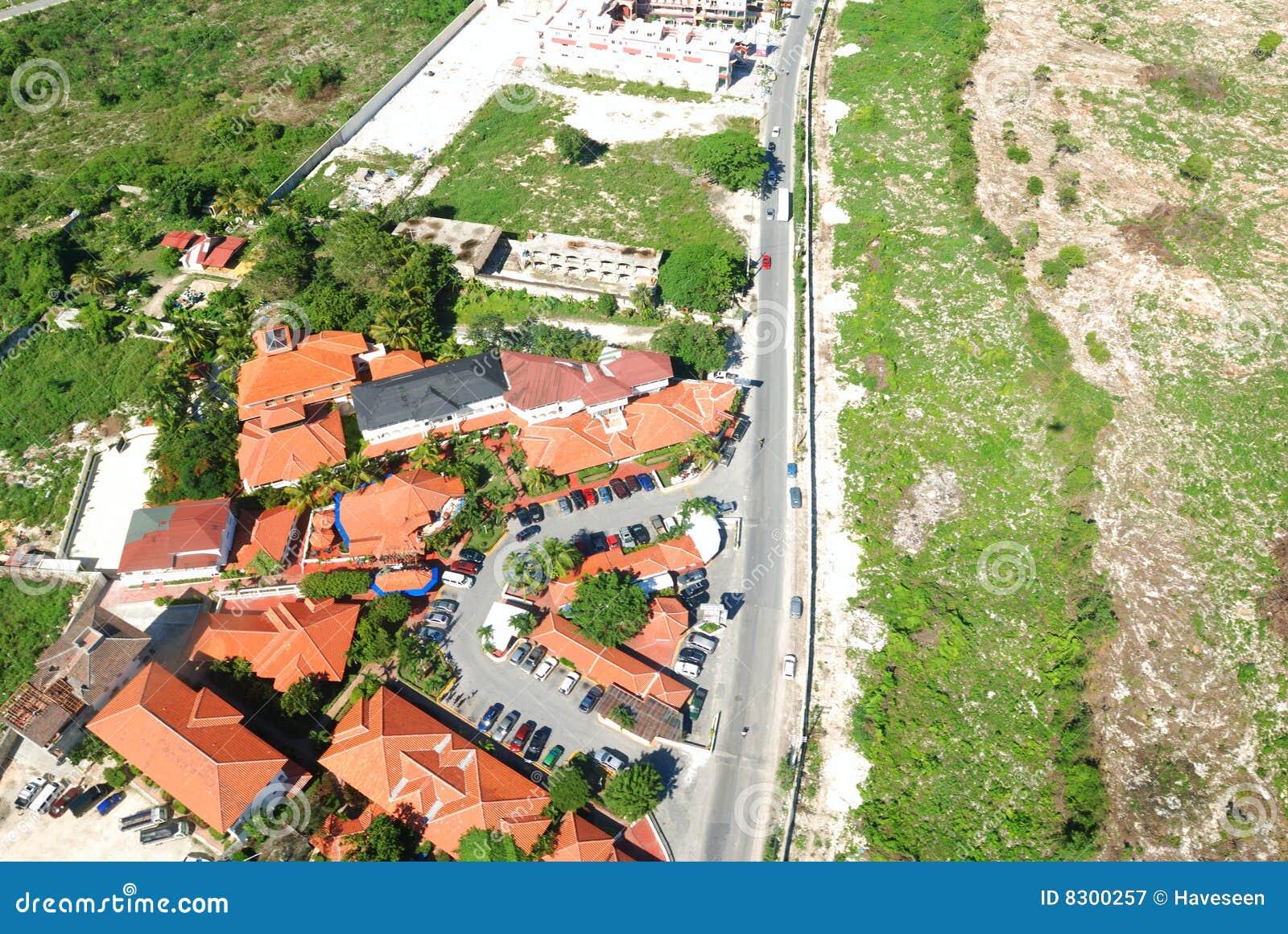 εναέρια κατοικημένη όψη περιοχής