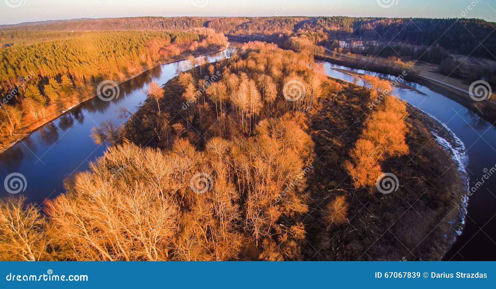 εναέρια όψη ποταμών
