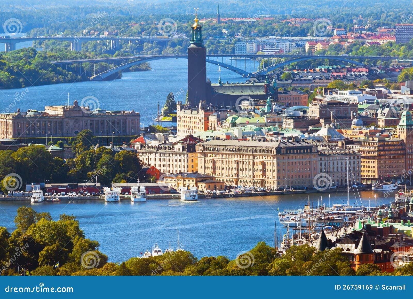 Εναέριο πανόραμα της Στοκχόλμης, Σουηδία