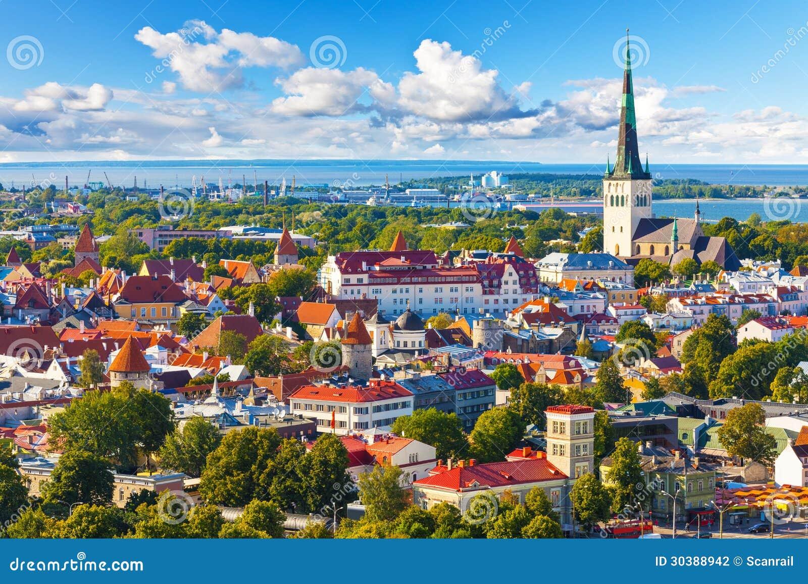 Εναέριο πανόραμα του Ταλίν, Εσθονία