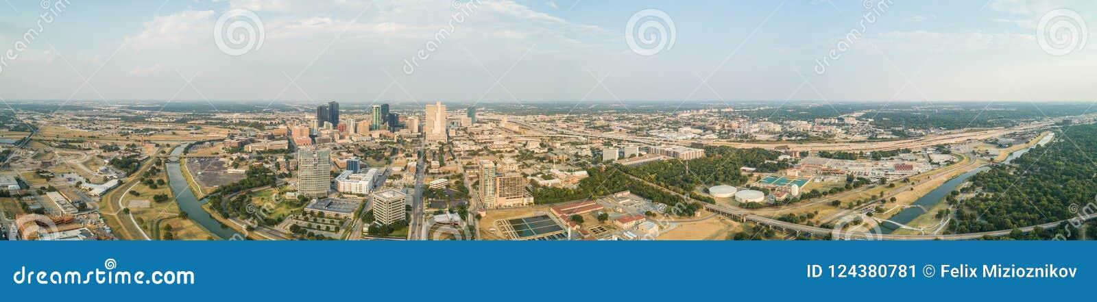 Εναέριο πανόραμα Fort Worth Τέξας