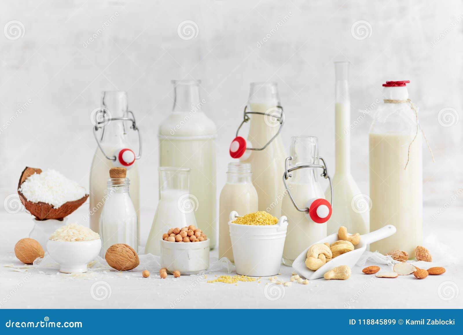 Εναλλακτικοί τύποι γαλάτων Γαλακτοκομικό γάλα υποκατάστατων Vegan