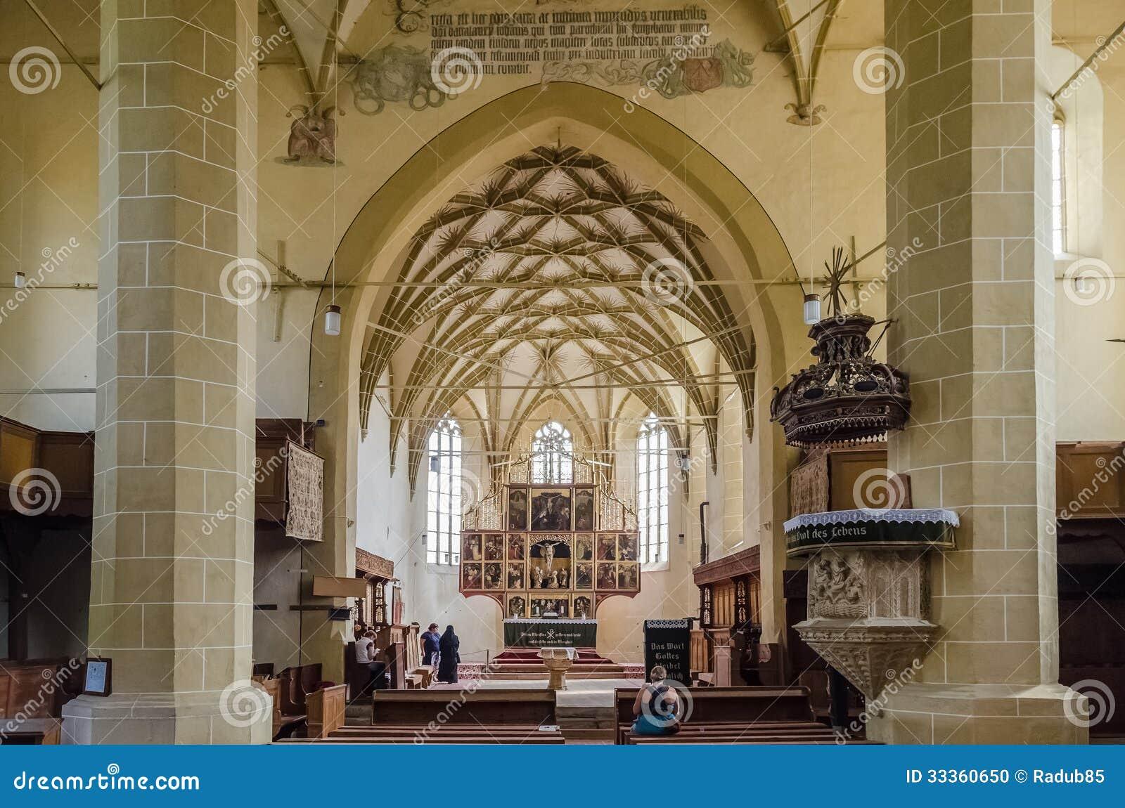 Ενισχυμένο Biertan εσωτερικό εκκλησιών