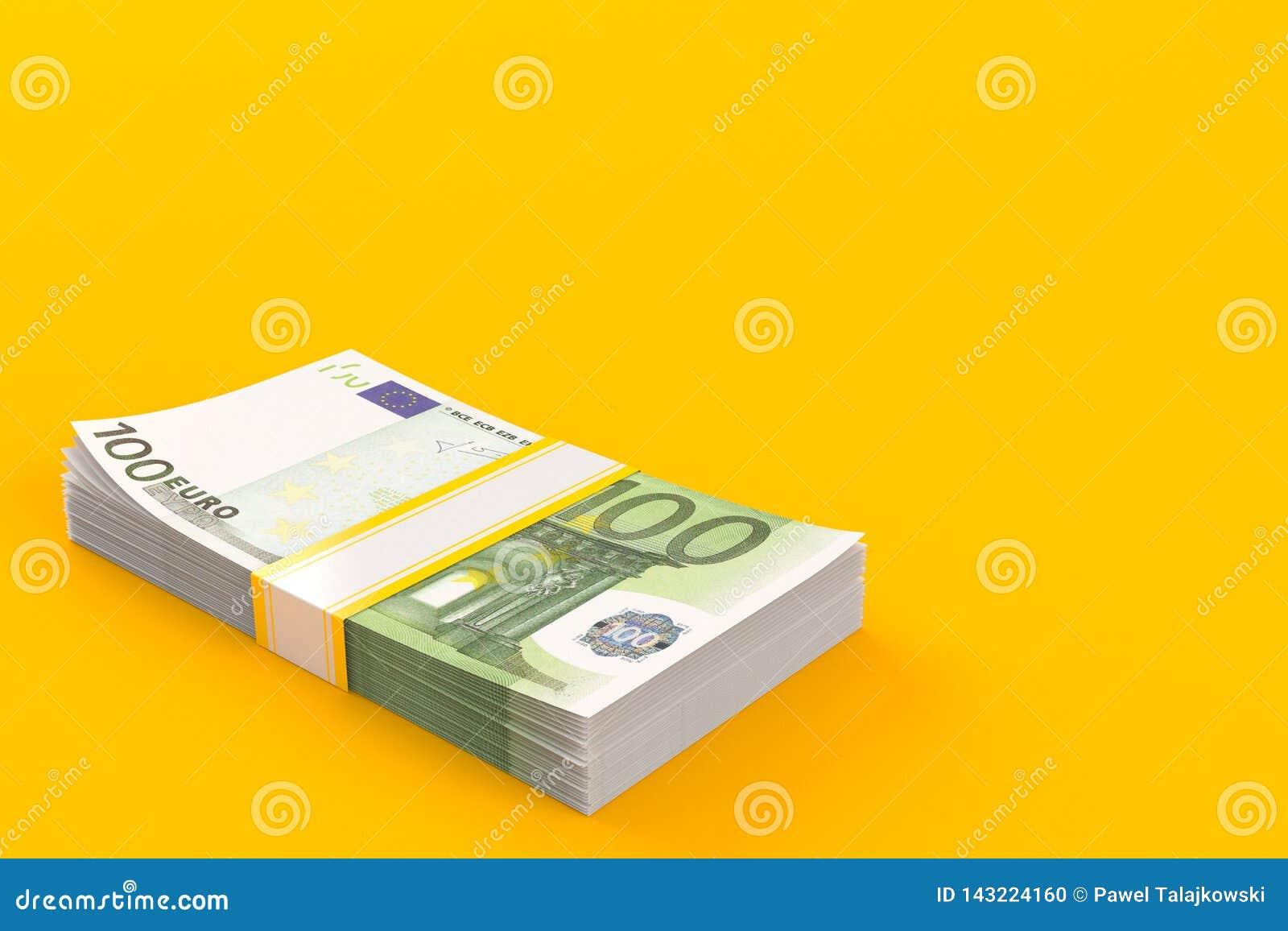 εννοιολογικό ευρώ πενήντα πέντε δέκα νομίσματος τραπεζογραμματίων