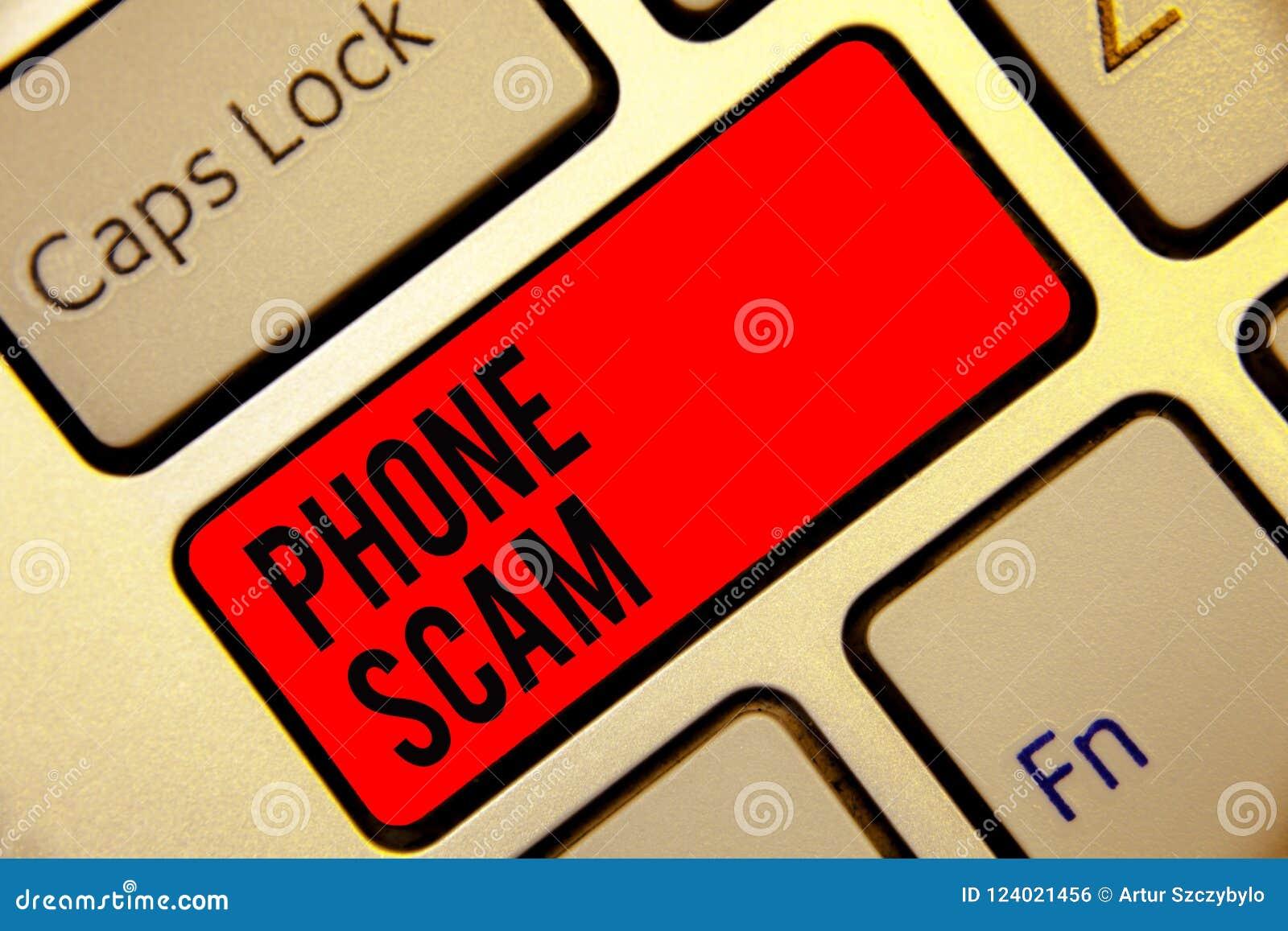 Εννοιολογικό χέρι που γράφει παρουσιάζοντας τηλεφωνική απάτη Κείμενο επιχειρησιακών φωτογραφιών που παίρνει τις ανεπιθύμητες κλήσ