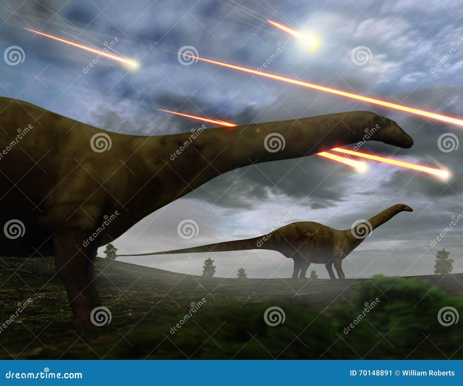 Εξάλειψη του ντους μετεωριτών δεινοσαύρων