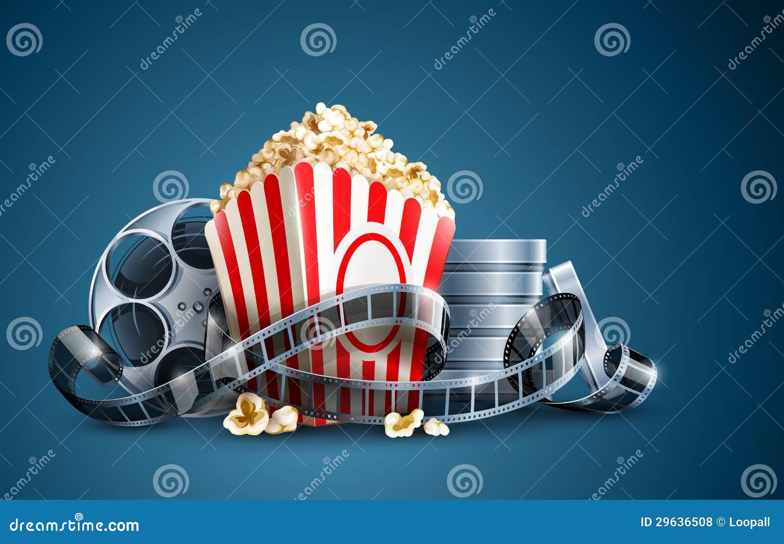 Εξέλικτρο και popcorn ταινιών κινηματογράφων