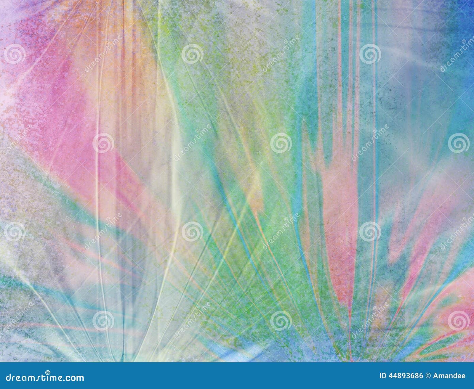 Εξασθενισμένο ζαρωμένο σχέδιο υποβάθρου με τα μπλε χρώματα ρόδινων πράσινα και ροδάκινων παλαιά βρώμικη σύσταση και άσπρη επικάλυ