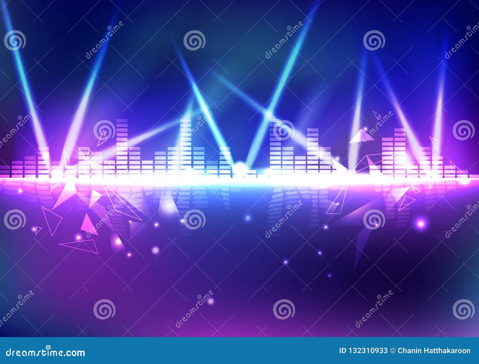 Εξισωτής, όγκος μουσικής με την ελαφριά επίδραση νέου τριγώνων, ψηφιακή