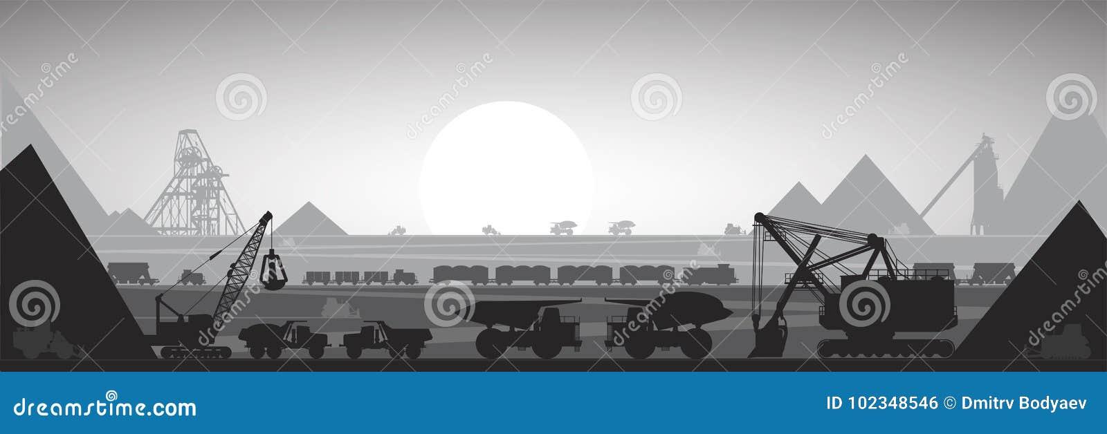 Εξοπλισμός λατομείων μεταλλείας, απεικόνιση