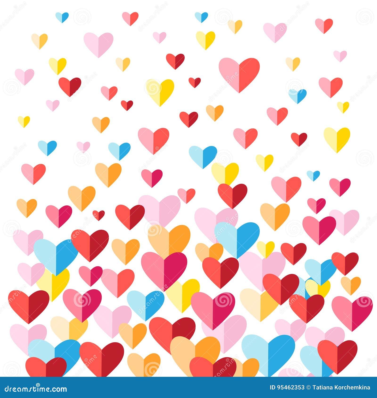 Εορταστικό υπόβαθρο με τις πολύχρωμες καρδιές