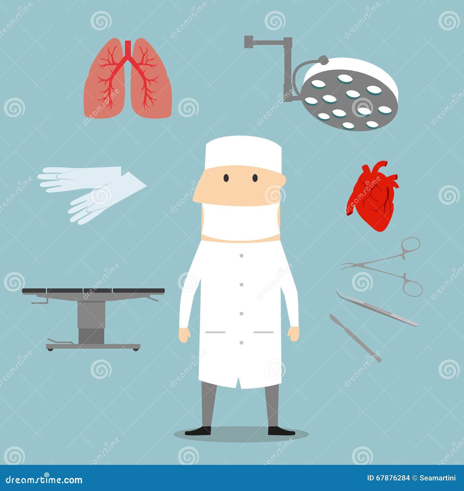Επάγγελμα χειρούργων και ιατρικά αντικείμενα