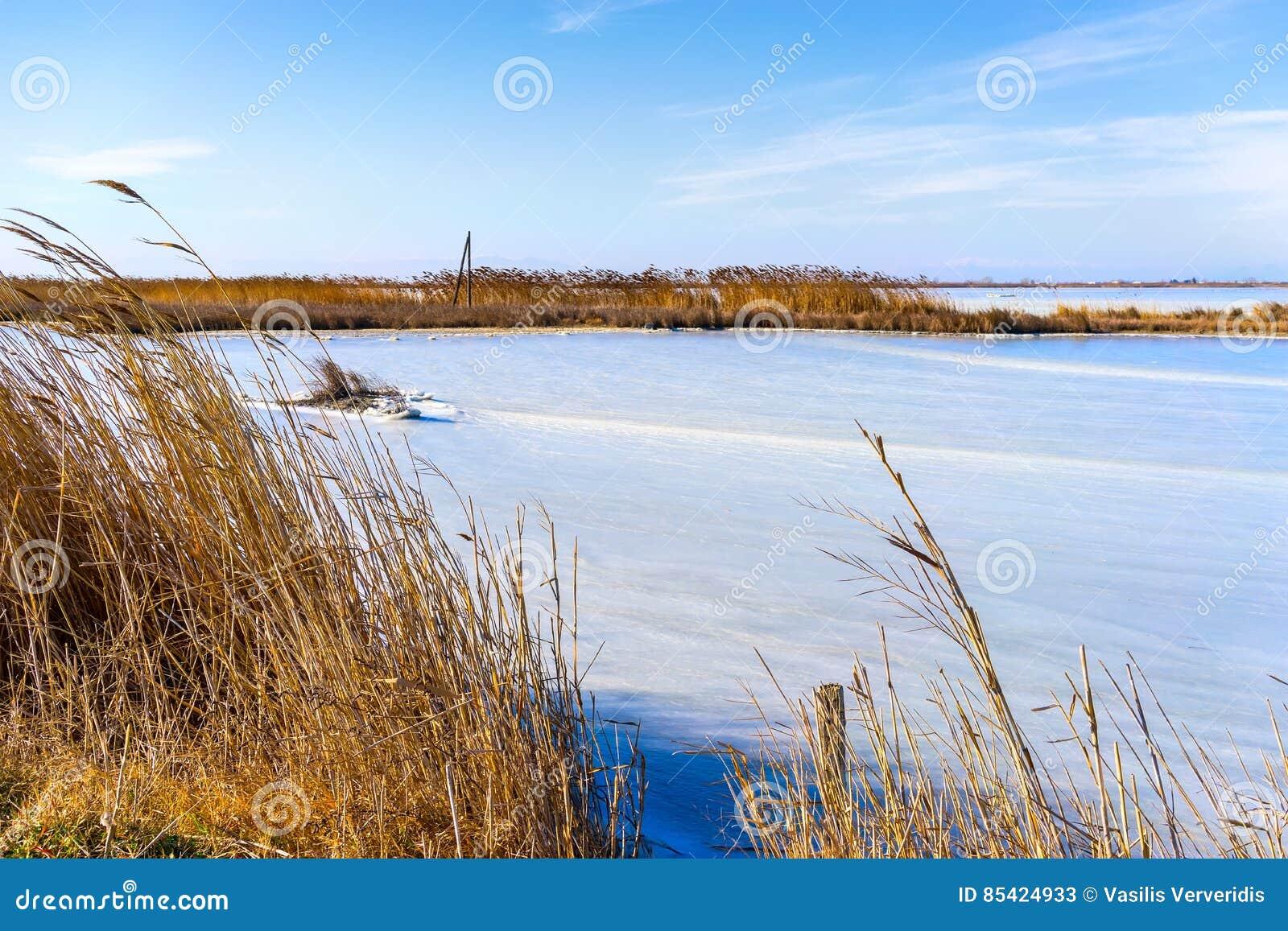 επάγωσε τη λιμνοθάλασσα Kalochori στην Ελλάδα