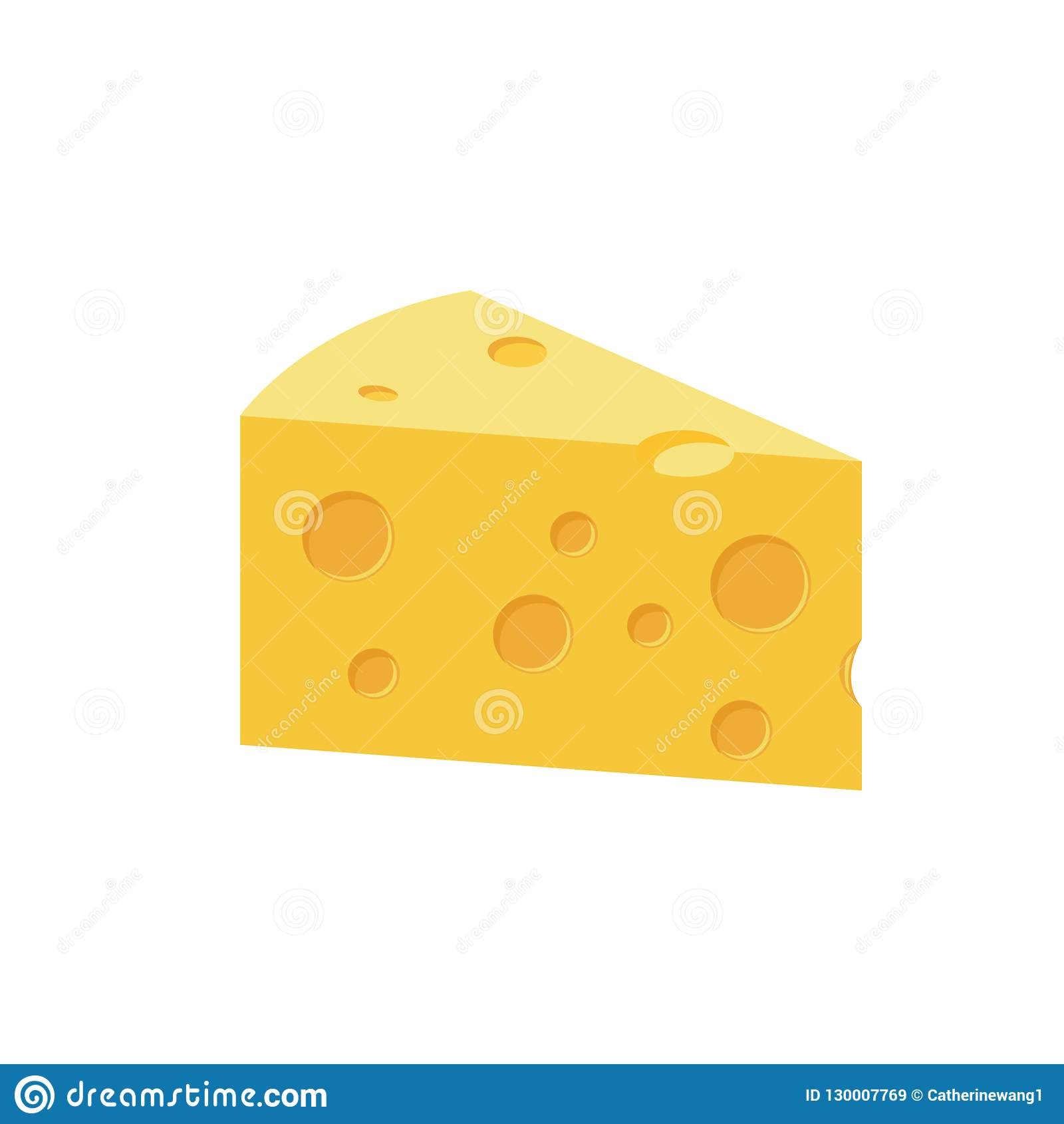 Επίπεδη απεικόνιση κινούμενων σχεδίων χρώματος τυριών