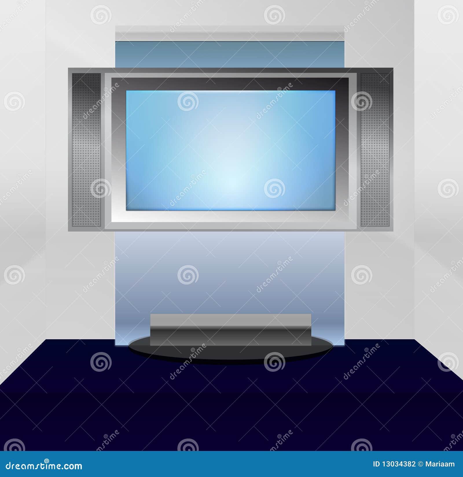 επίπεδη TV στάσεων οθόνης π&lambda