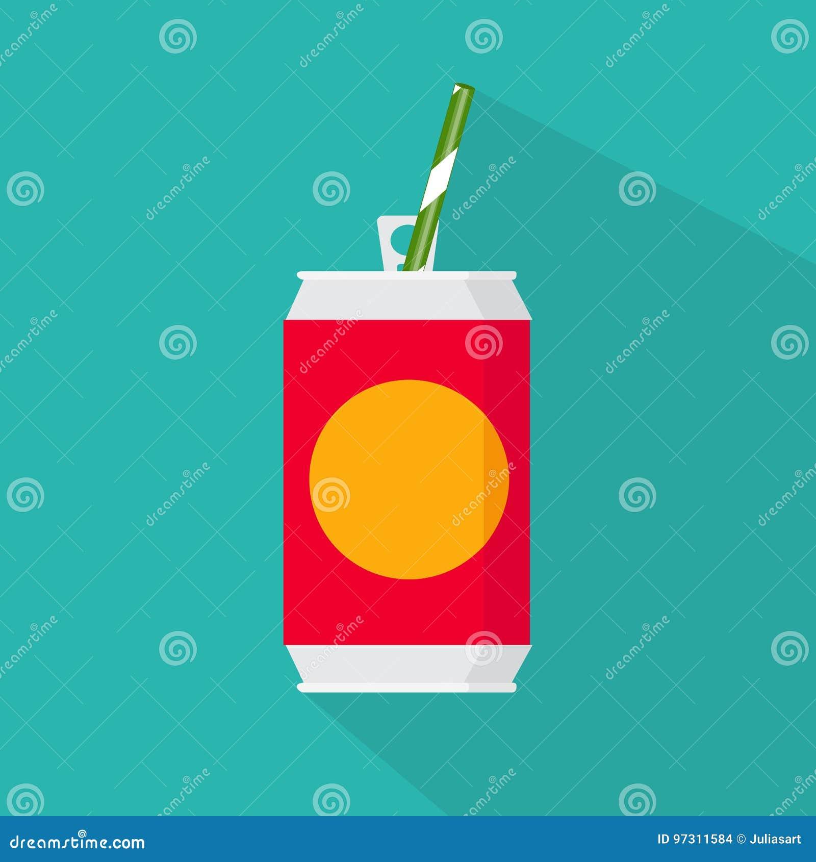 Επίπεδο εικονίδιο ύφους Η διανυσματική απεικόνιση του κρύου ποτού μπορεί απομονωμένος