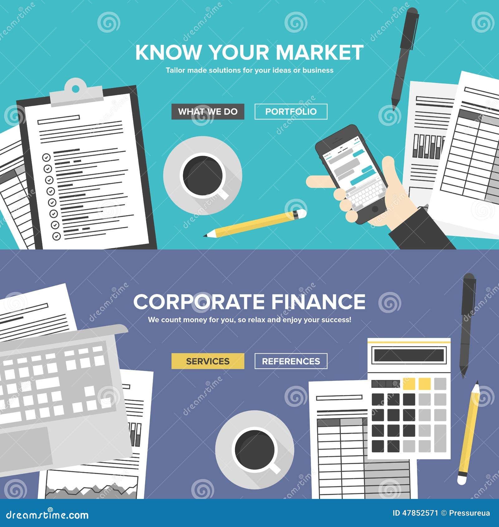 Επίπεδα εμβλήματα υπηρεσιών επιχείρησης και έρευνας αγοράς