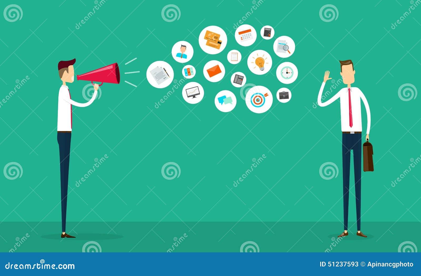 επίπεδη διανυσματική έννοια επιχειρησιακών επικοινωνιών και σύνδεσης