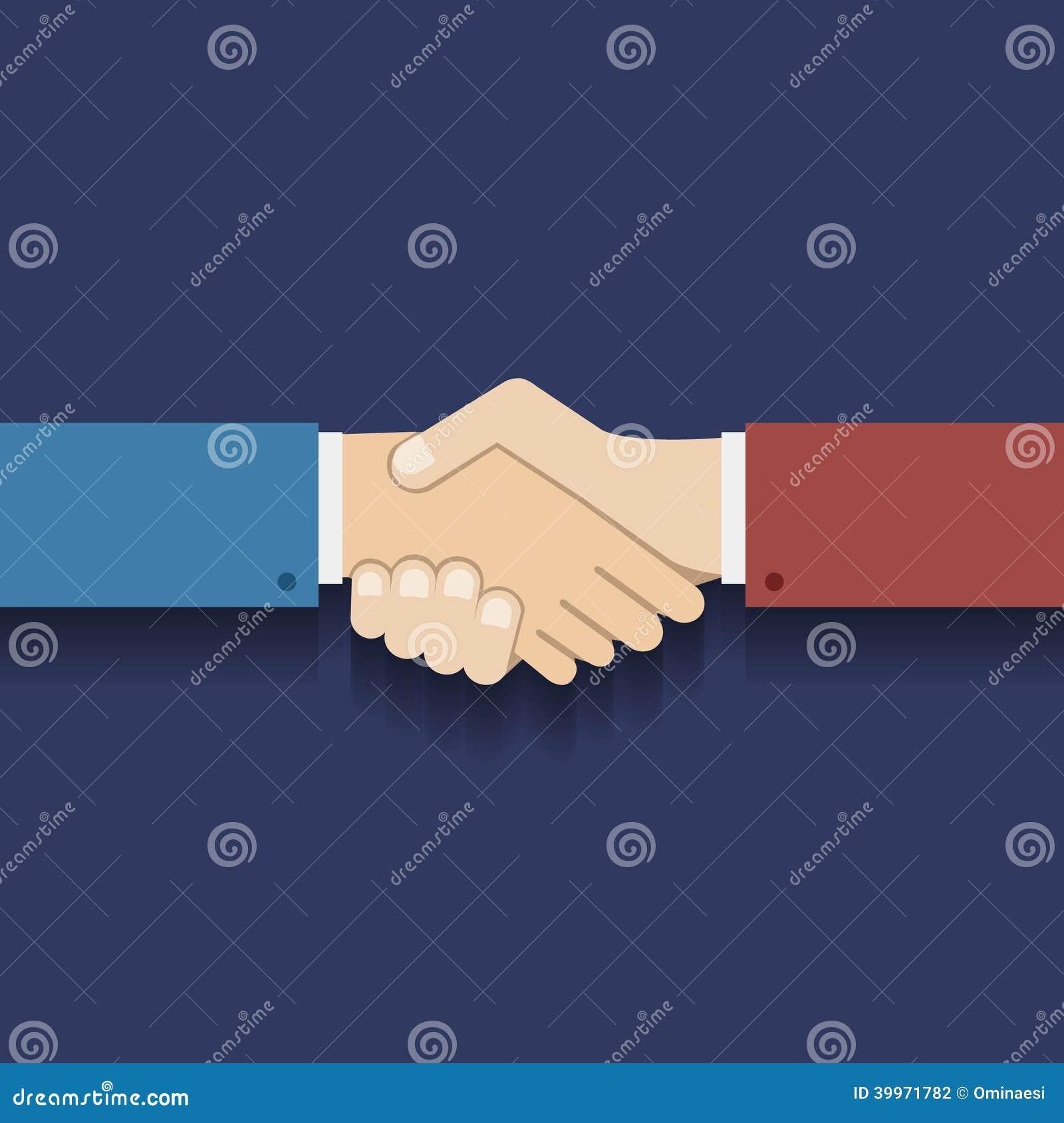 Επίπεδη διανυσματική απεικόνιση χειραψιών επιχειρηματιών συμβόλων συνεργασίας σχεδίου