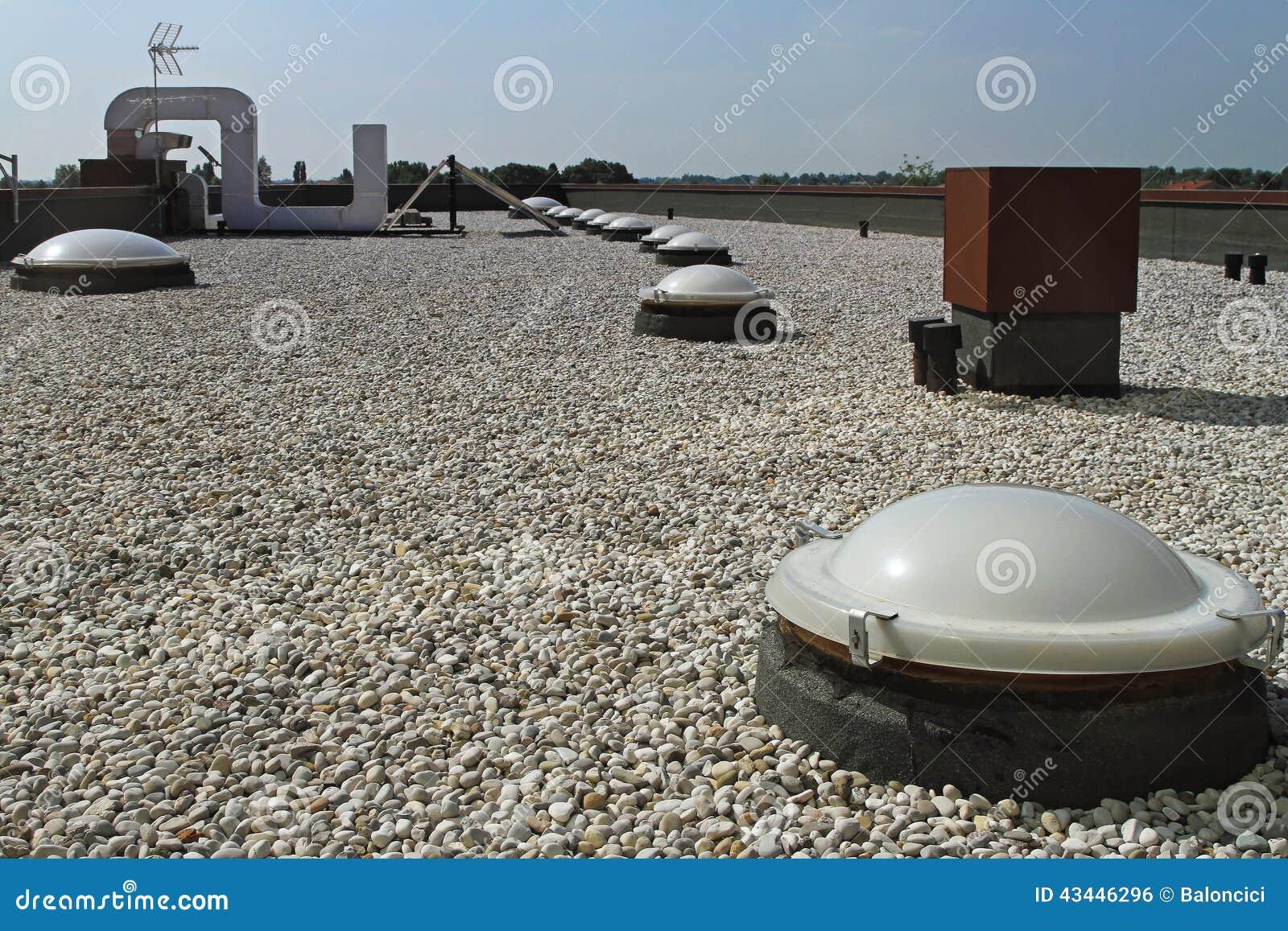 Επίπεδη στέγη με το αμμοχάλικο