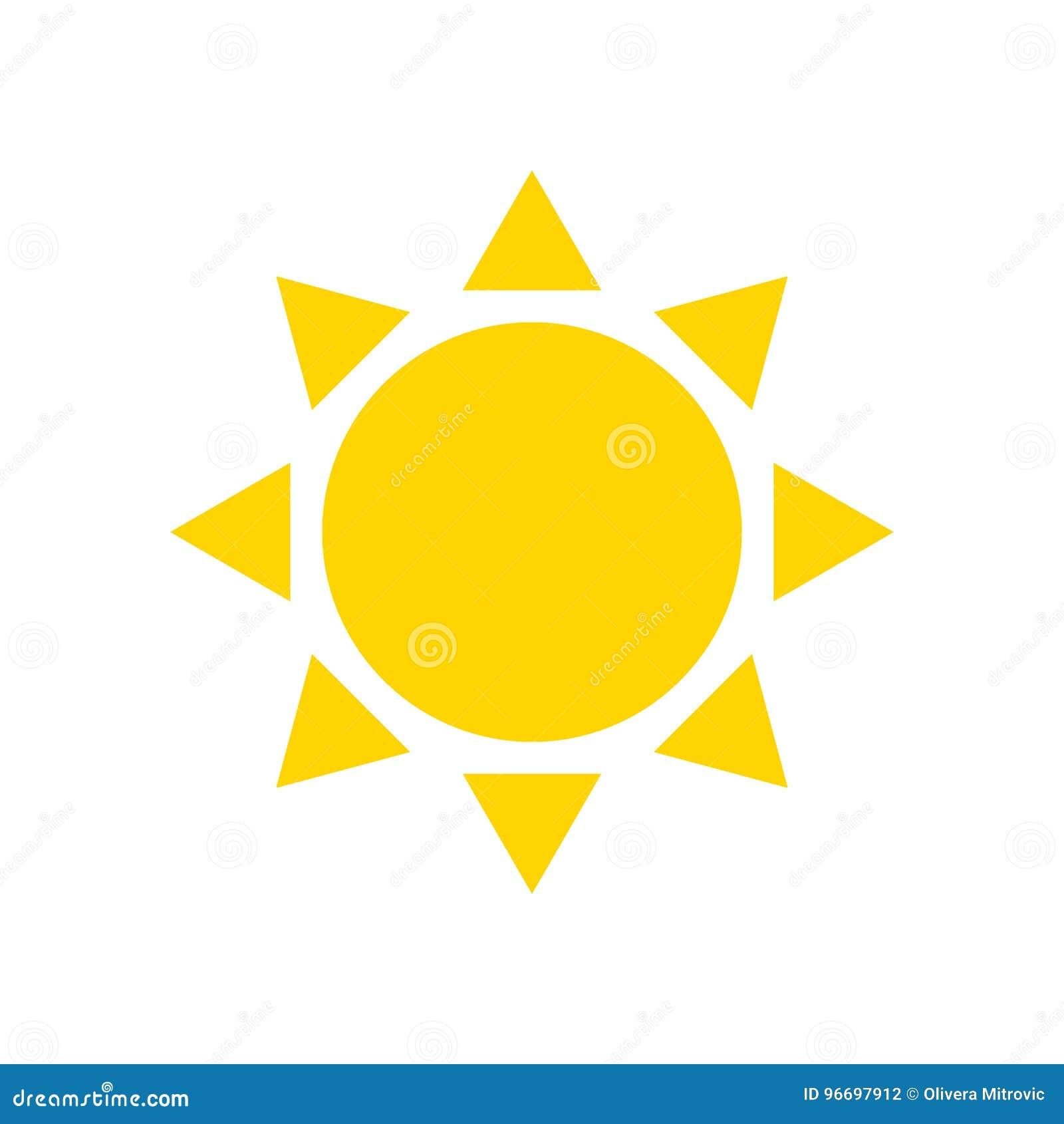 Επίπεδος ήλιος εικονιδίων