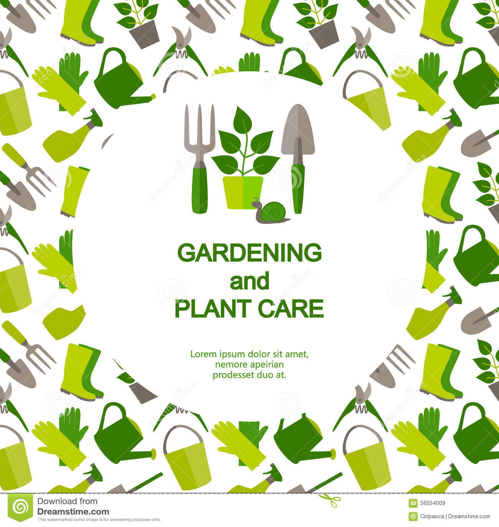 Download Επίπεδο έμβλημα σχεδίου για την κηπουρική και την προσοχή εγκαταστάσεων Διανυσματική απεικόνιση - εικονογραφία από σχέδιο, λουλούδι: 56554009