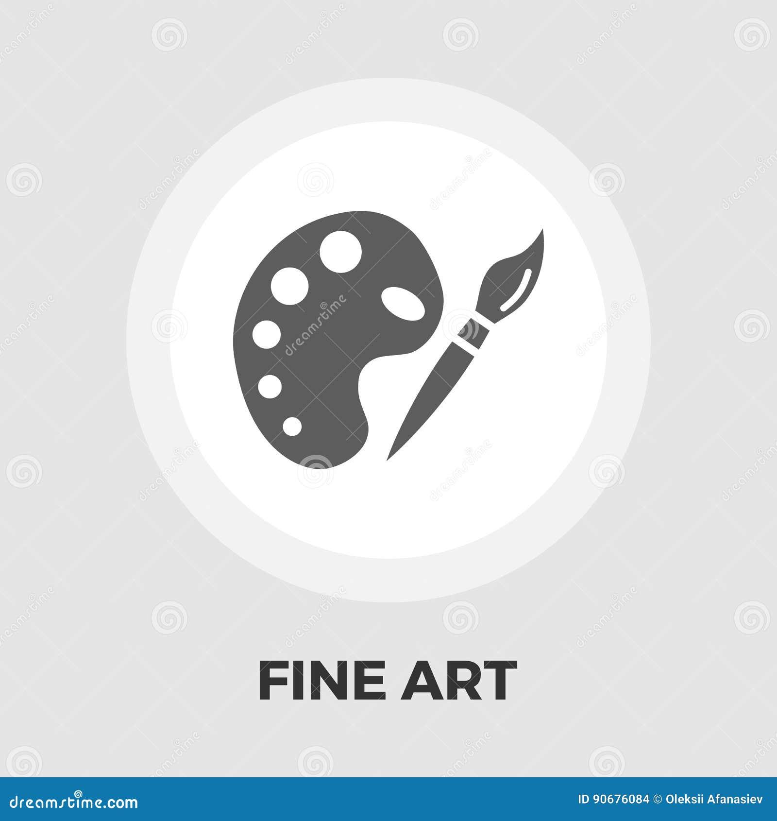 Επίπεδο εικονίδιο Καλών Τεχνών